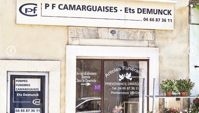 Photographie Pompes Funèbres et Marbrerie Camarguaise de Saint-Gilles