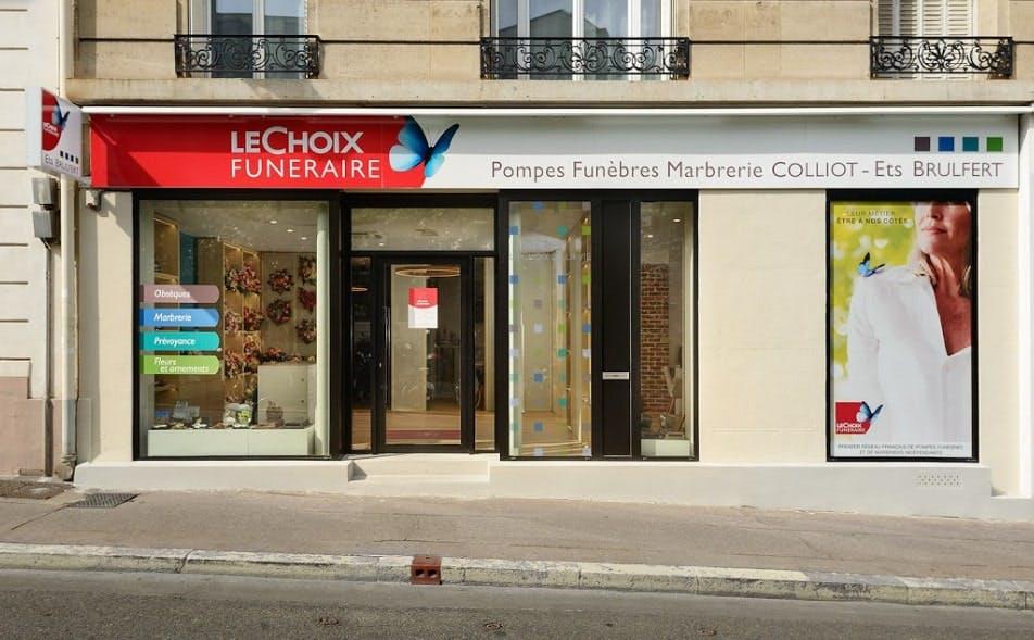 Photographie des Pompes Funèbres et Marbrerie Colliot à Courbevoie