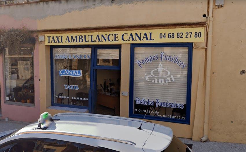 Photographie de la Pompes Funèbres Canal à Collioure