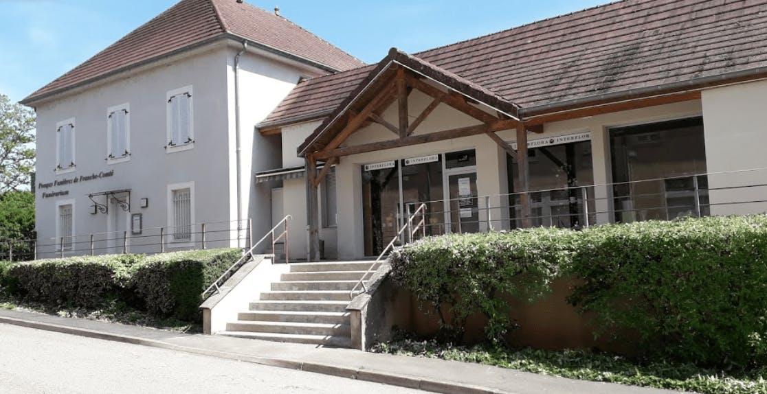 Photographie de la Pompes Funèbres de Franche-Comté S. LIEGEON de la ville de Fraisans