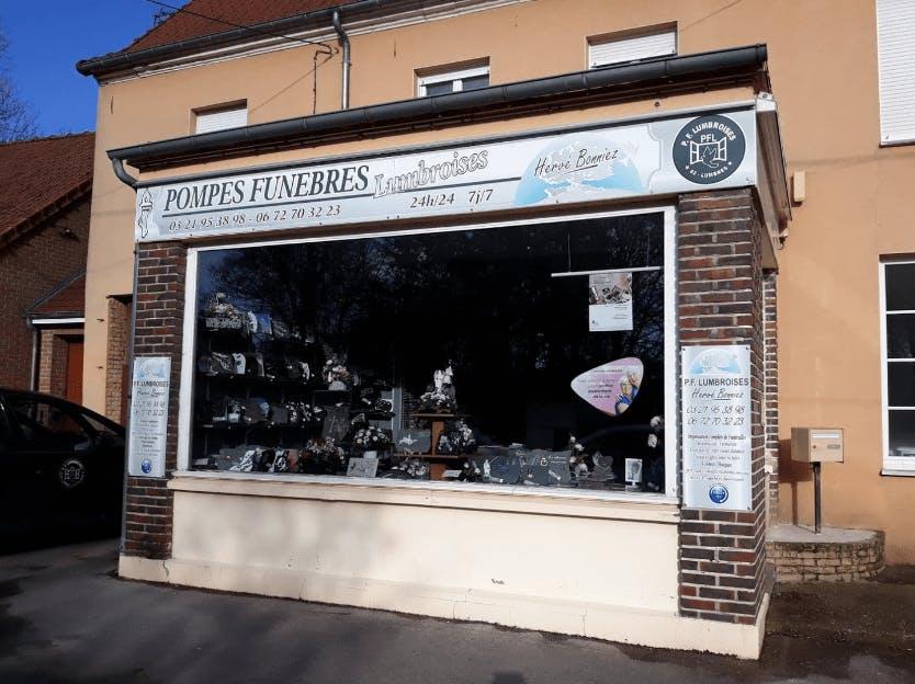 Photographie de la Pompes Funèbres Lumbroises Hervé Bonniez de la ville de Lumbres