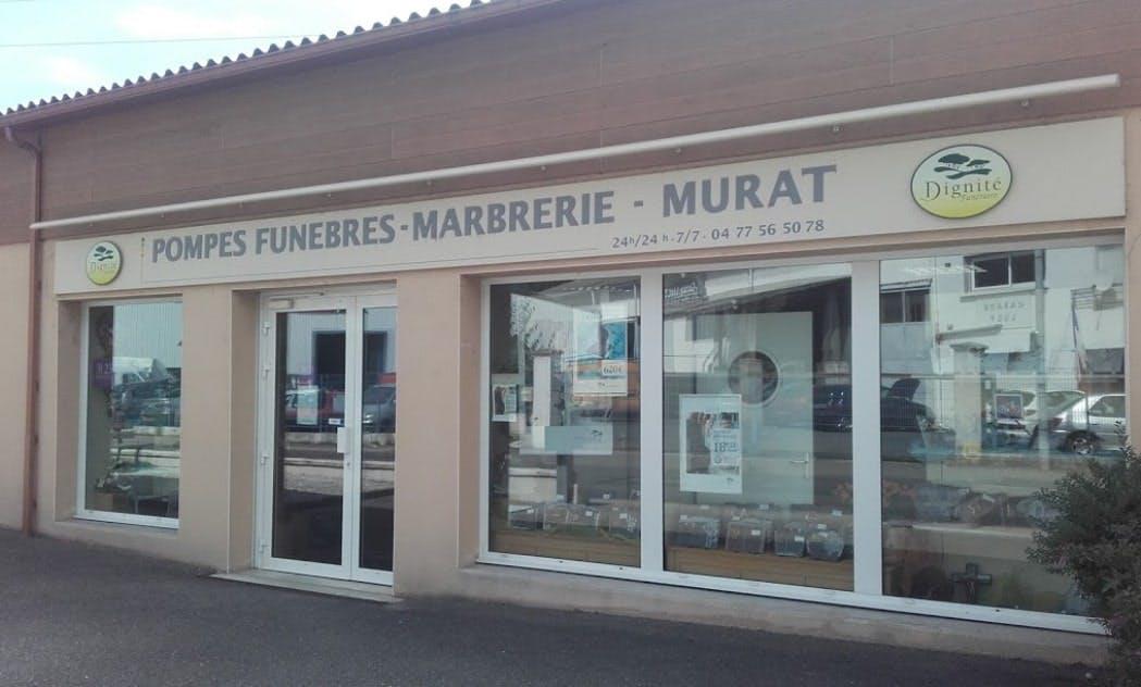 Photographies des Pompes Funèbres Marbrerie Murat Martel à Firminy