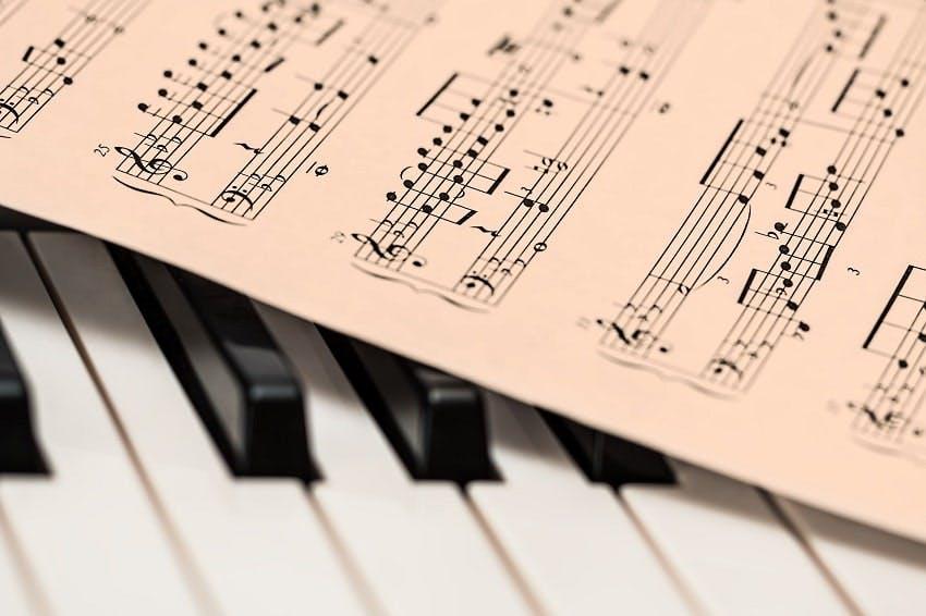 note et piano