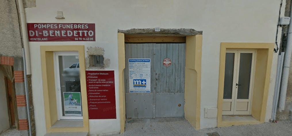 Photographie de la Pompes funèbres DI BENEDETTO de la ville de Montblanc