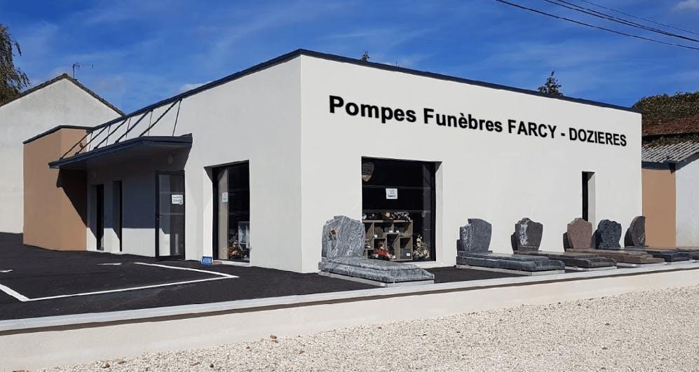 Photographie de la Pompes Funèbres Marbrerie Farcy à Brienon-sur-Armançon