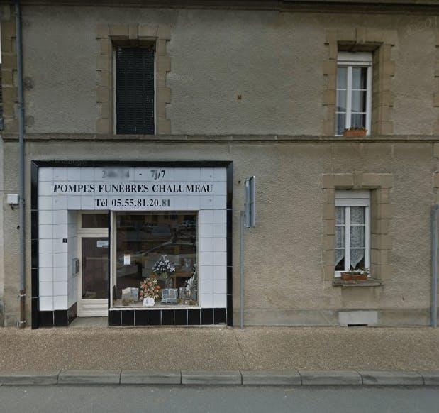 Photographie de la Pompes Funèbres Chalumeau de la ville de Genouillac