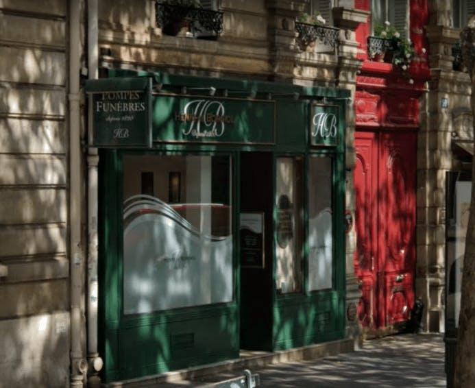 Photographie de la Pompes funèbres Henri de Borniol à Paris