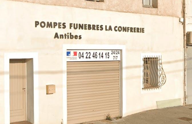 Photographie de la Pompes Funèbres La Confrérie à Antibes