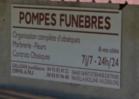 Photographie de la Pompes funèbres Galléan Jean-Etienne de la ville de Saint-Étienne-de-Tinée