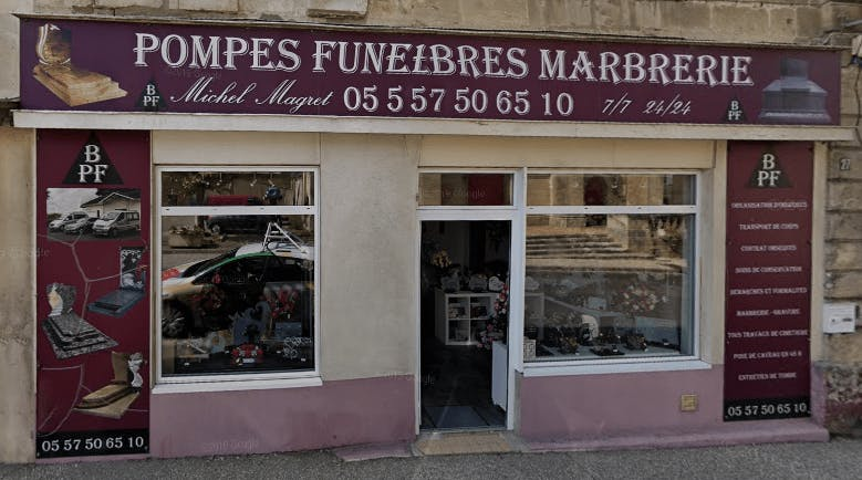 Photographie de la Branne Pompes Funèbres  de la ville de Branne