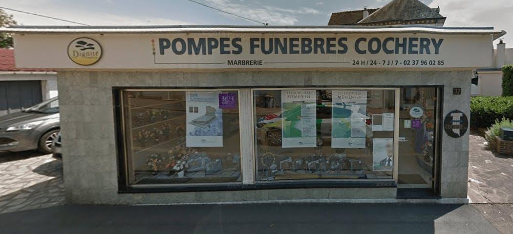 Photographie de la Pompes Funèbres et Marbrerie Cochery de la ville de Brou