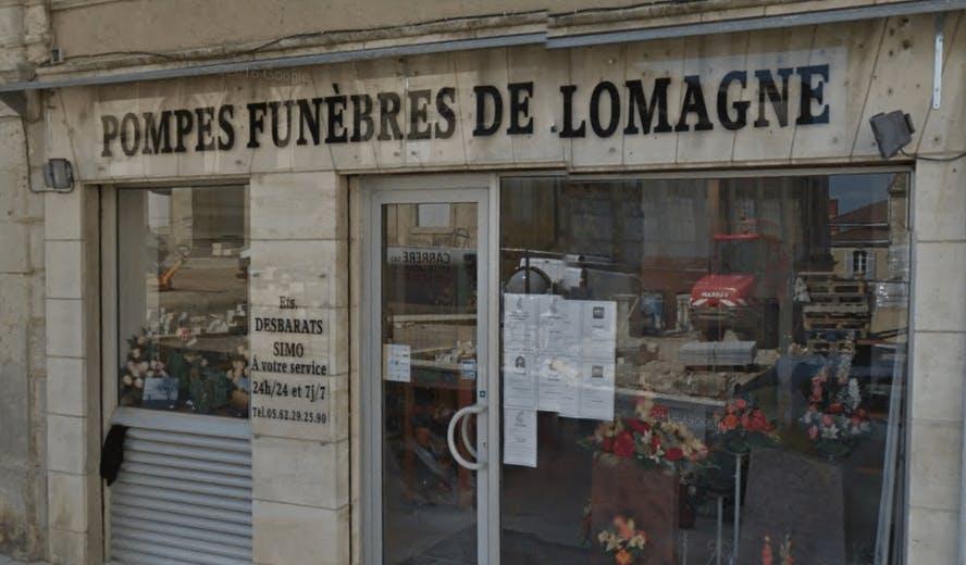 Photographie de la Pompes Funèbres de Lomagne de la ville de Lectoure