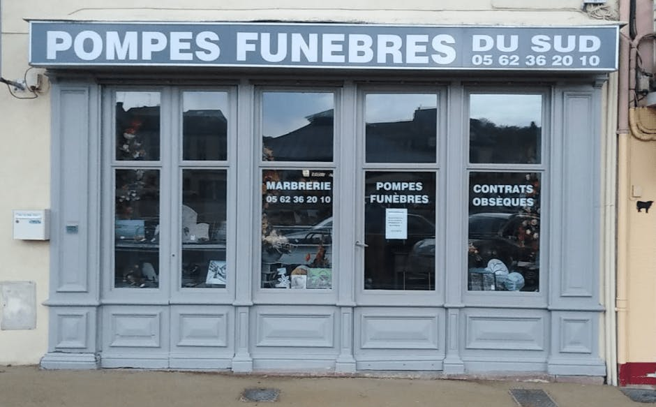 Photographie Pompes Funèbres Du sud Sarramea de Tournay