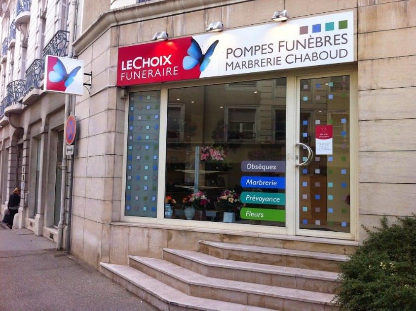 Photographies des Pompes Funèbres Chaboud à Caluire-et-Cuire