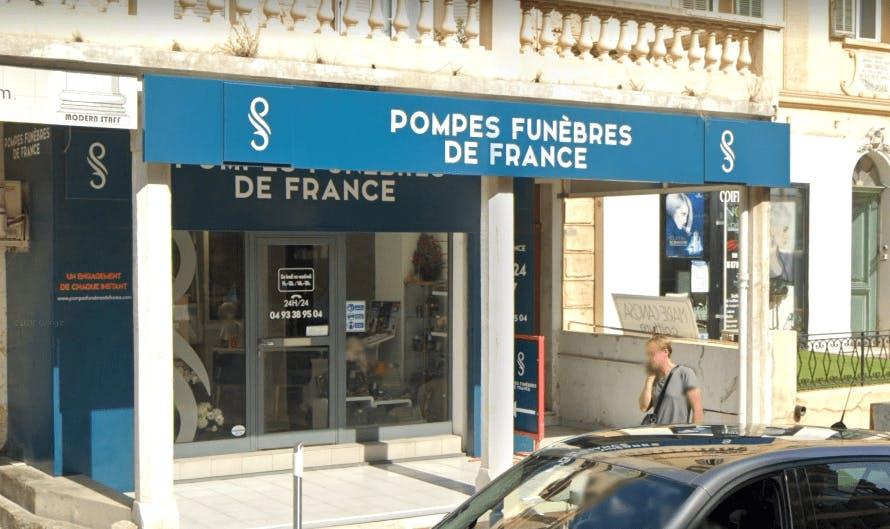 Photographie de la Pompes Funèbres de France à Cannes