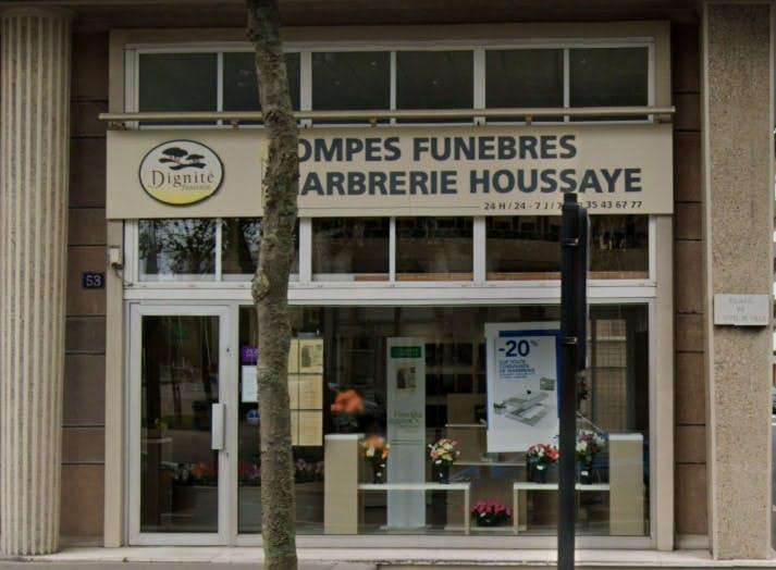 Photographie des Pompes Funèbres et Marbrerie Houssaye