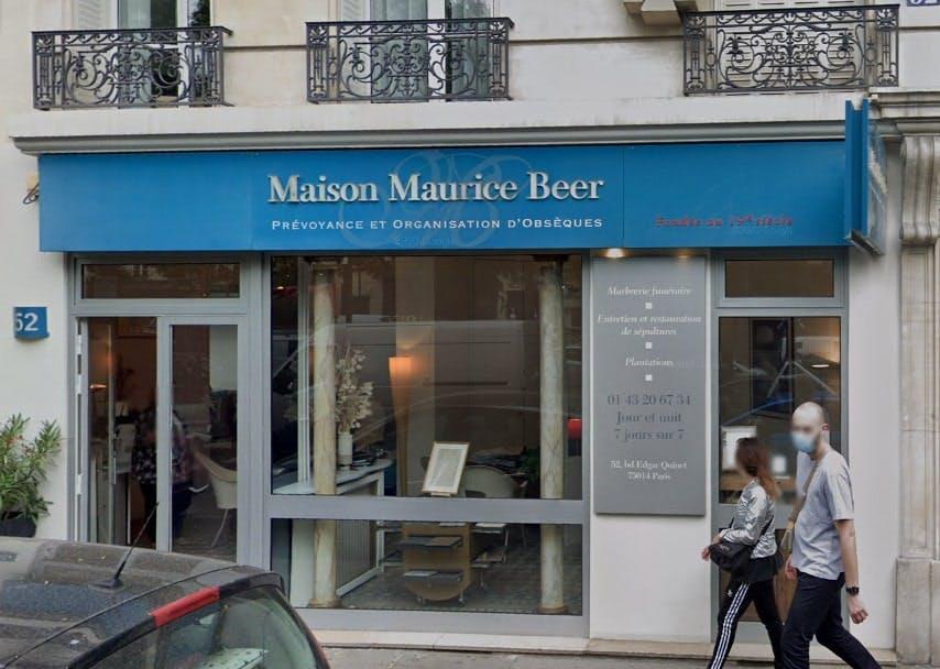 Photographies des Pompes Funèbres Maison Maurice Beer à Paris