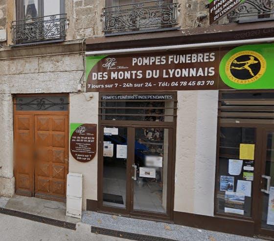 Photographie de la Pompes Funèbres des Monts du Lyonnais à Vaugneray