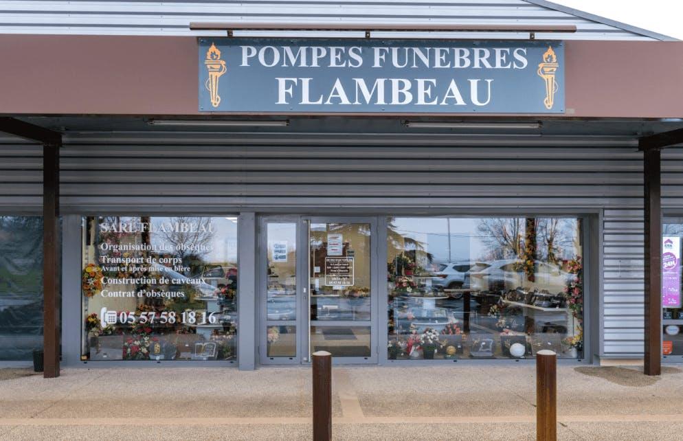 Photographie de la Pompes Funèbres Flambeau de la ville de Bourg