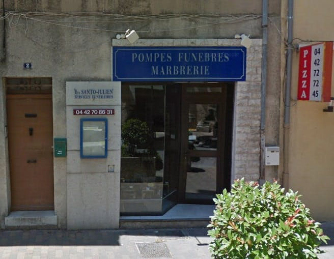 Photographies des Pompes Funèbres Santo Julien à Auriol