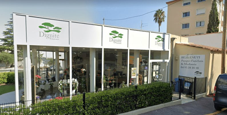 Photographie de la Pompes Funèbres et Marbrerie BENVENUTI à Cannes