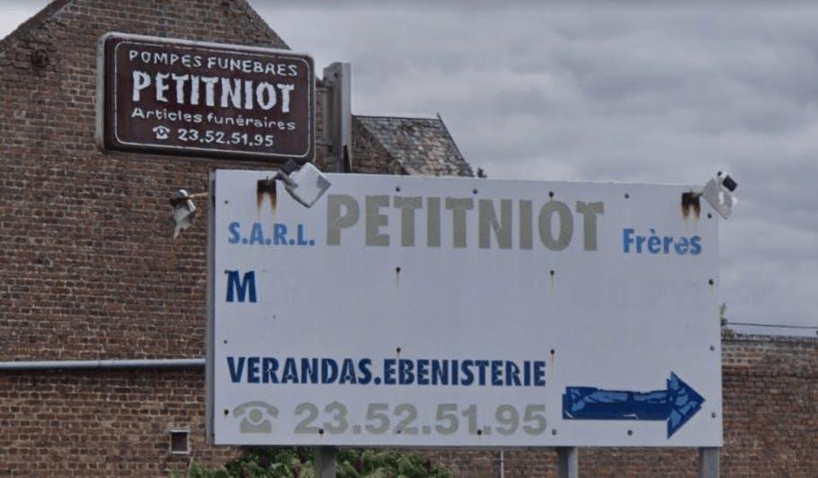 Photographie de la Pompes Funèbres Petitniot de la ville de Flavy-le-Martel