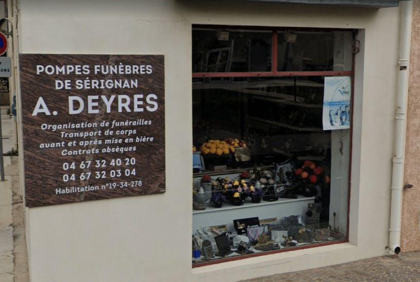 Photographie Pompes Funèbres Deyres Sauvian de Sérignan