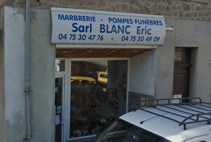 Photographie Pompes Funèbres Blanc Eric de Saint-Martin-de-Valamas