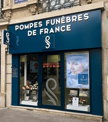 Photographie de la Pompes Funèbres de France à Paris