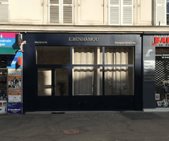 Photographie de la Pompes Funèbres Benhamou à Paris