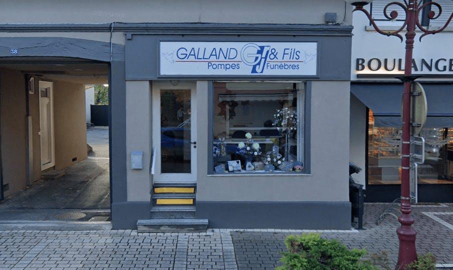 Photographie de la Pompes Funèbres Galland à Lutterbach