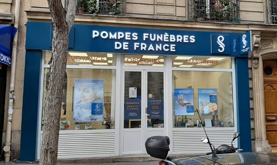 Photographies des Pompes Funèbres de France à Paris