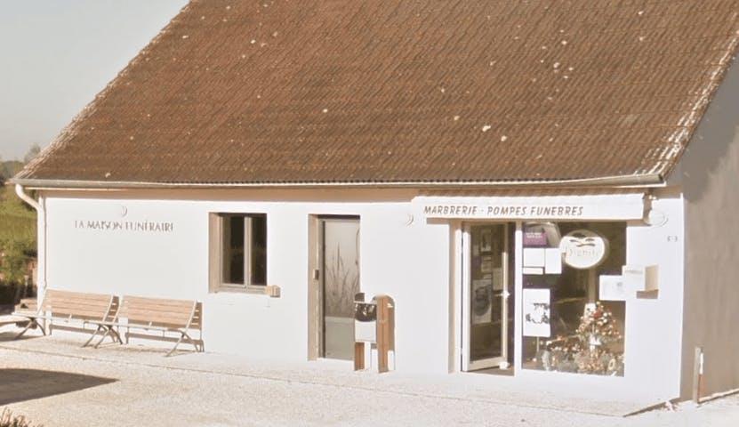 Photographie de la Pompes Funèbres et Marbrerie Nosjean de la ville de L'Abergement-Sainte-Colombe