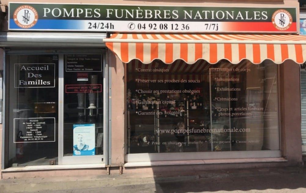 Photographies des Pompes Funèbres Nationale à Cagnes-sur-Mer