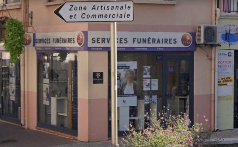 Photographie de la Pompes Funèbres Générales au Boulou