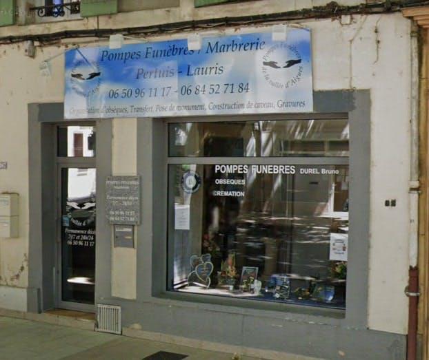 Photographies des Pompes Funèbres Marbrerie de la Vallée d'Aigues à Pertuis