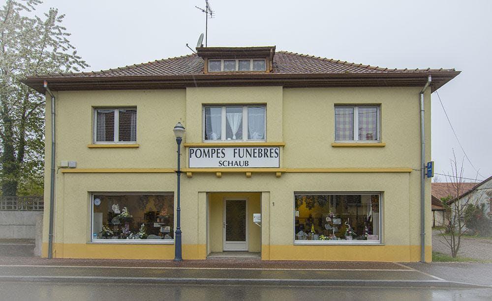 Photographie de la Pompes Funèbres Schaub à Wittelsheim