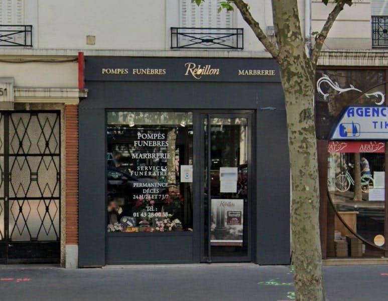 Photographies des Pompes Funèbres Marbrerie Rebillon à Vincennes