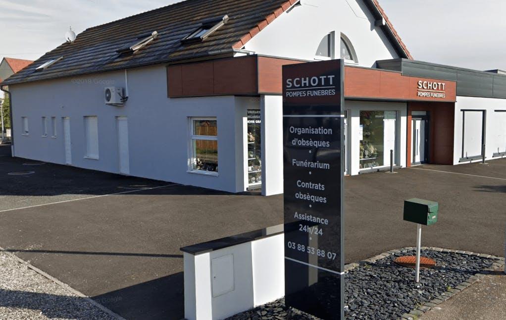 Photographie de la Pompes Funèbres Schott de la ville d'Oberhoffen-sur-Moder