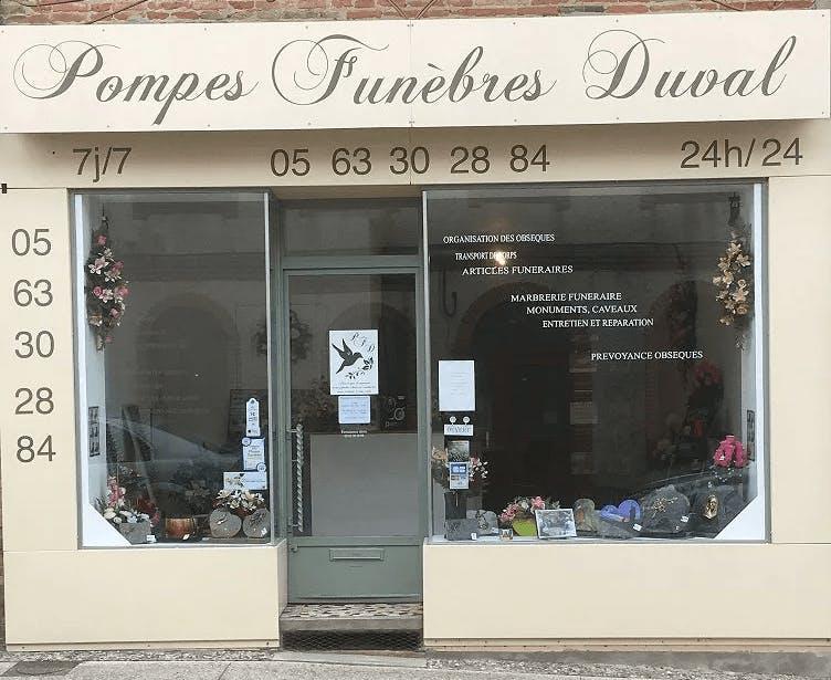 Photographie de la Pompes Funèbres et Marbrerie Duval à Grisolles