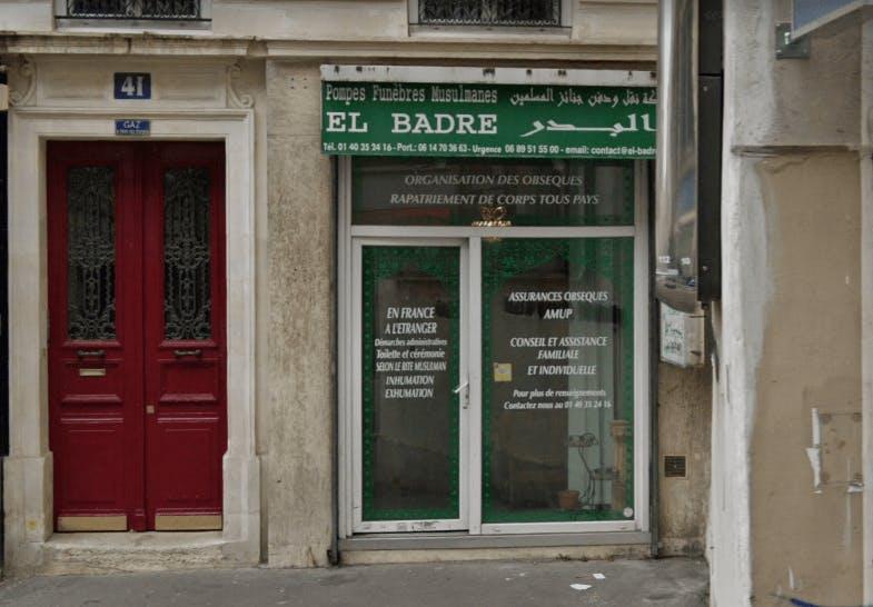 Photographie de la Pompes Funèbres Musulmanes El Badre à Paris