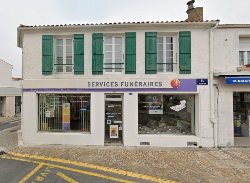 Photographies des Pompes Funèbres Générales à Saint-Pierre-d'Oléron