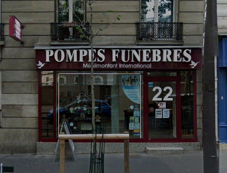 Photographies des Pompes Funèbres Menilmontant Internationales à Paris