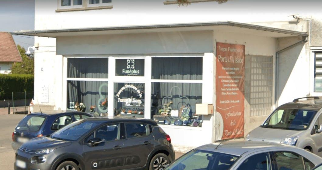 Photographie de la Pompes Funèbres de la Porte d'Alsace à Dannemarie
