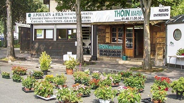 Photographies des Pompes Funèbres Marbrerie Poulain et Fils à Paris