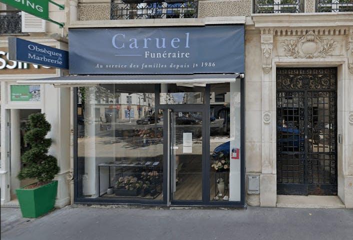Photographie de la Pompes Funèbres Caruel à Paris