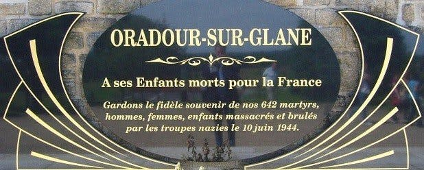 monument oradour sur glane