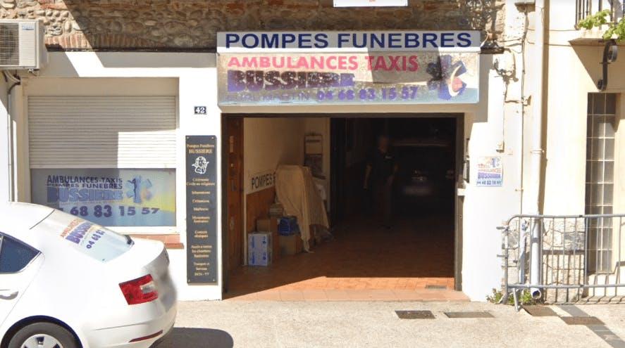 Photographie de la Pompes Funèbres Bussière au Boulou