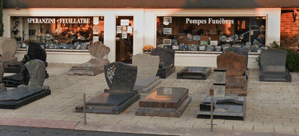 Photographie de la pompes funèbres Marbrerie Speranzini Feuillatre de la ville de Chelles