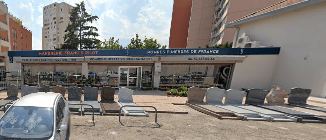 Photographie ompes Funèbres VILLEURBANNAISES Marbrerie PILOT à Villeurbanne